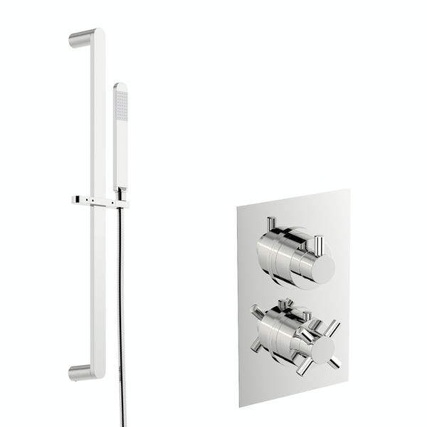 Mode Tate thermostatic shower valve with slider rail kit