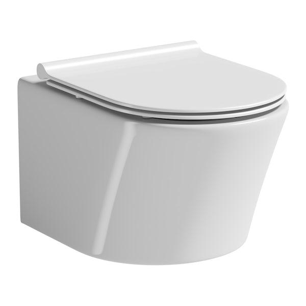 Mode Tate wall hung toilet inc slimline soft close toilet seat