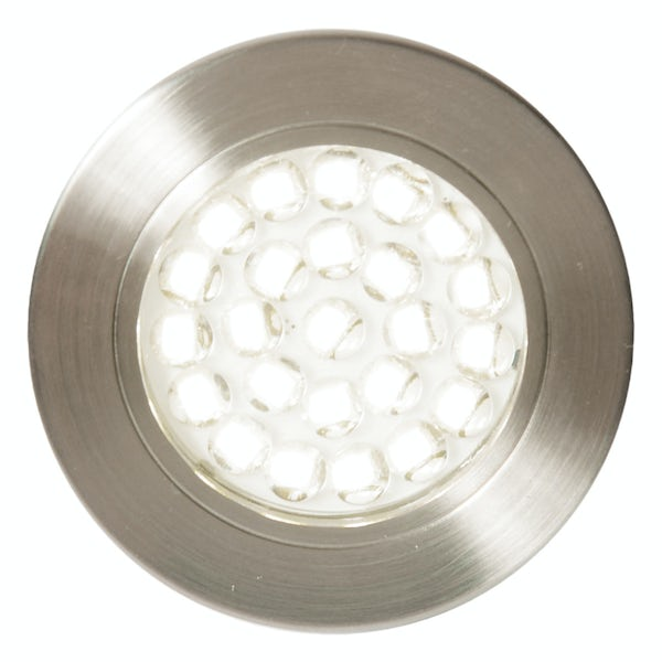 Forum Luz 1.5w cool white LED satin nickel under cabinet light