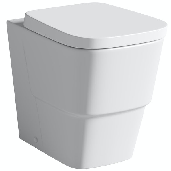 Orchard Derwent white back to wall unit and Foster toilet with seat