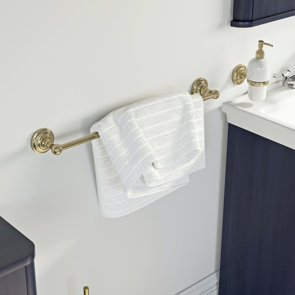 The Bath Co. 1805 gold single towel rail