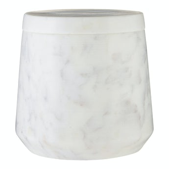Accents White marble storage jar