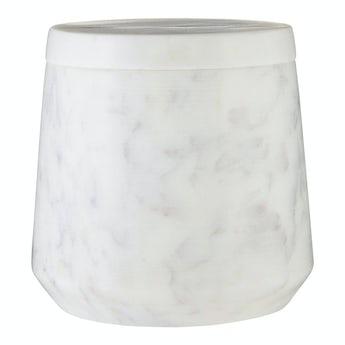 Mode White marble storage jar