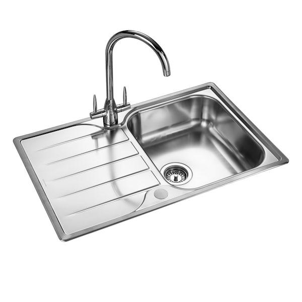 Rangemaster Michigan 1.0 bowl reversible kitchen sink