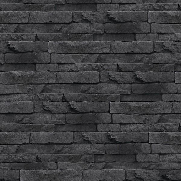 Graham & Brown Superfresco easy odysee black stone wallpaper