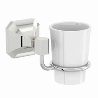 The Bath Co. Camberley ceramic tumbler and holder