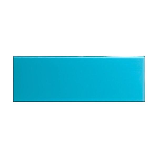 cut out of glass sky blue rectangular tile