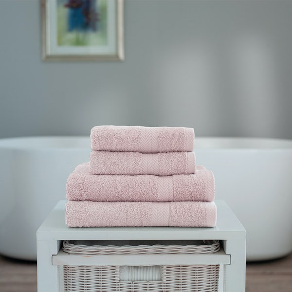 Deyongs Kingston 450gsm 4 piece towel bale pink