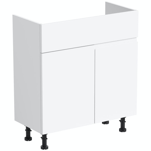 Orchard Wharfe white corner unit 700mm