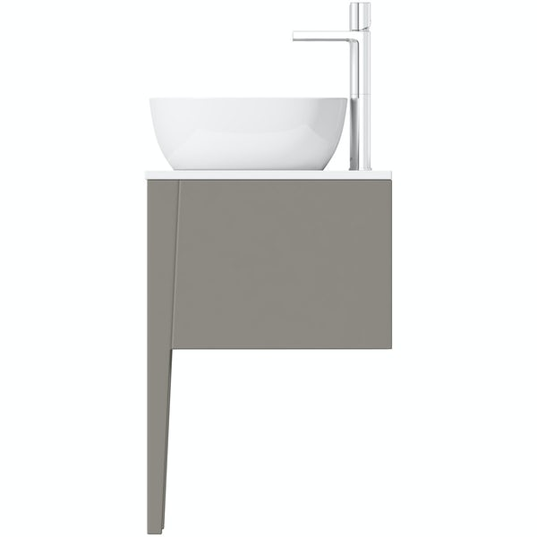 Mode Hale Greystone Matt Countertop Double Basin Vanity