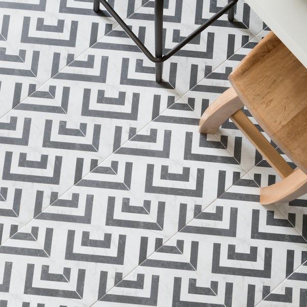 British Ceramic Tile Luka Feature matt floor tile 331mm x 331mm