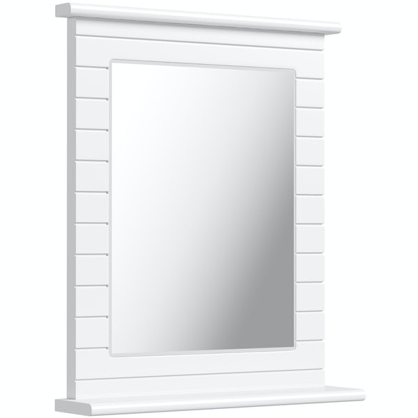 Innova Beachcomber white rectangular mirror