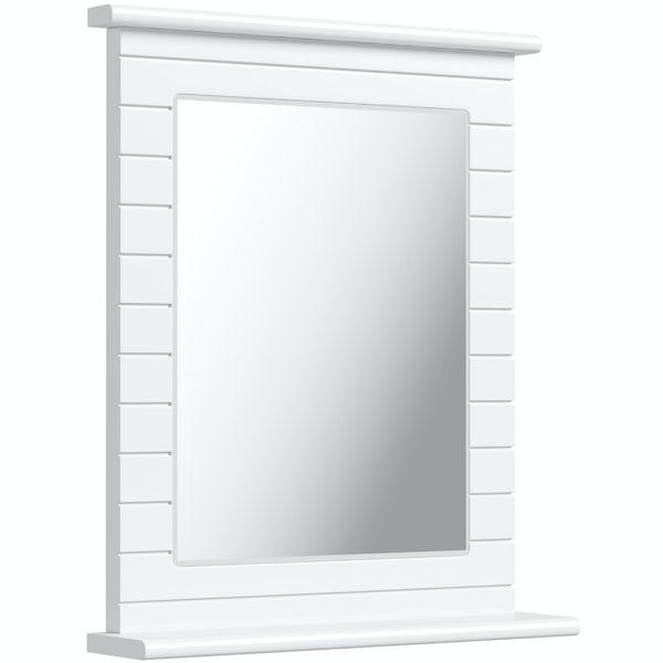 Innova Beachcomber white rectangular mirror