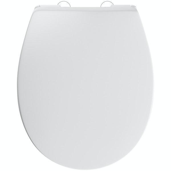Slim luxury top fixing soft close universal toilet seat