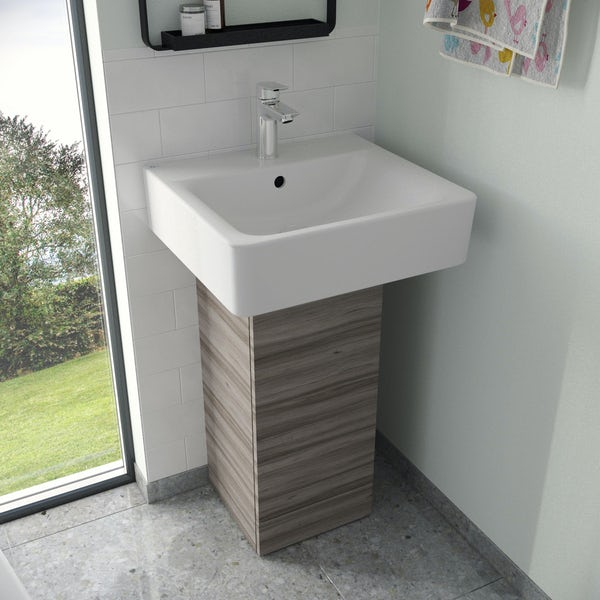 Ideal Standard Concept Space elm pedestal unit with basin 300mm