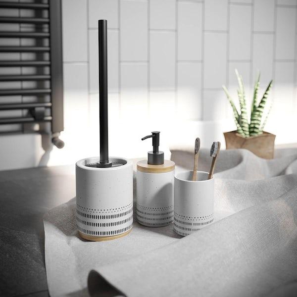 Accents Miami white ceramic 3 piece bathroom set