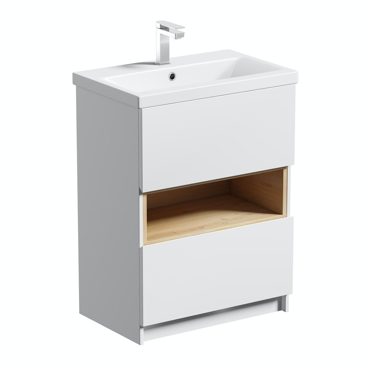Tate Anthracite & Oak 600 vanity unit with basin