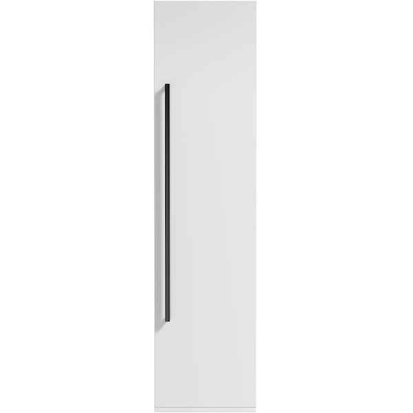Orchard Derwent white furniture package with countertop shelf and black handles 600mm