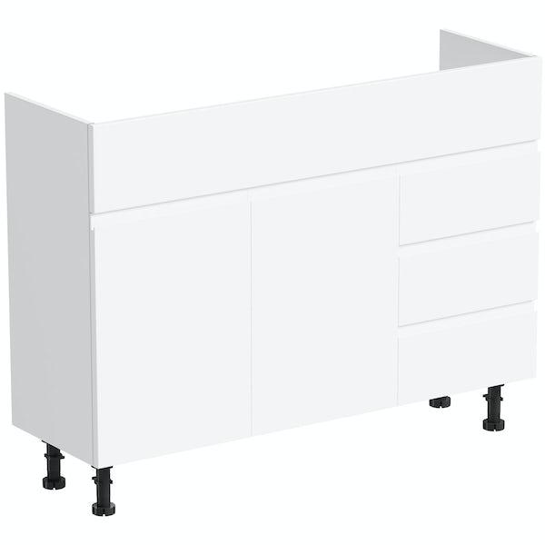 Orchard Wharfe white vanity unit 1050mm