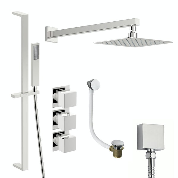 Mode Cooper thermostatic shower valve with complete wall shower bath set