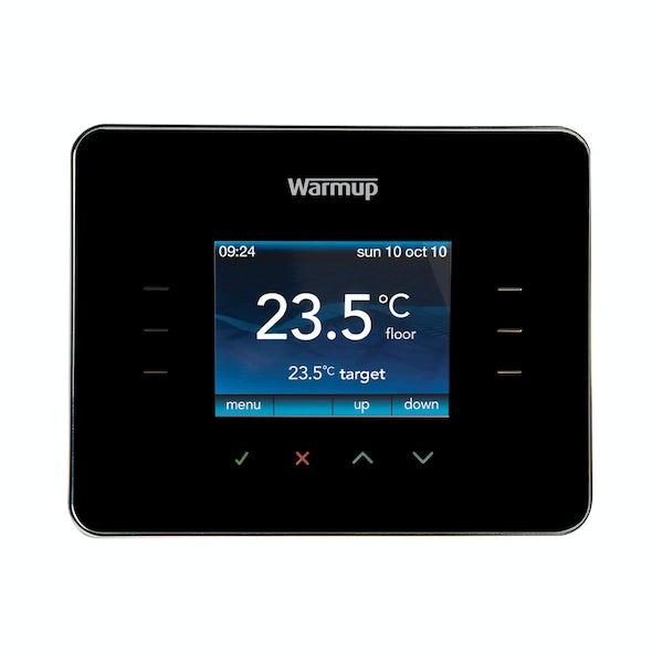 Warmup 3iE underfloor heating thermostat piano black