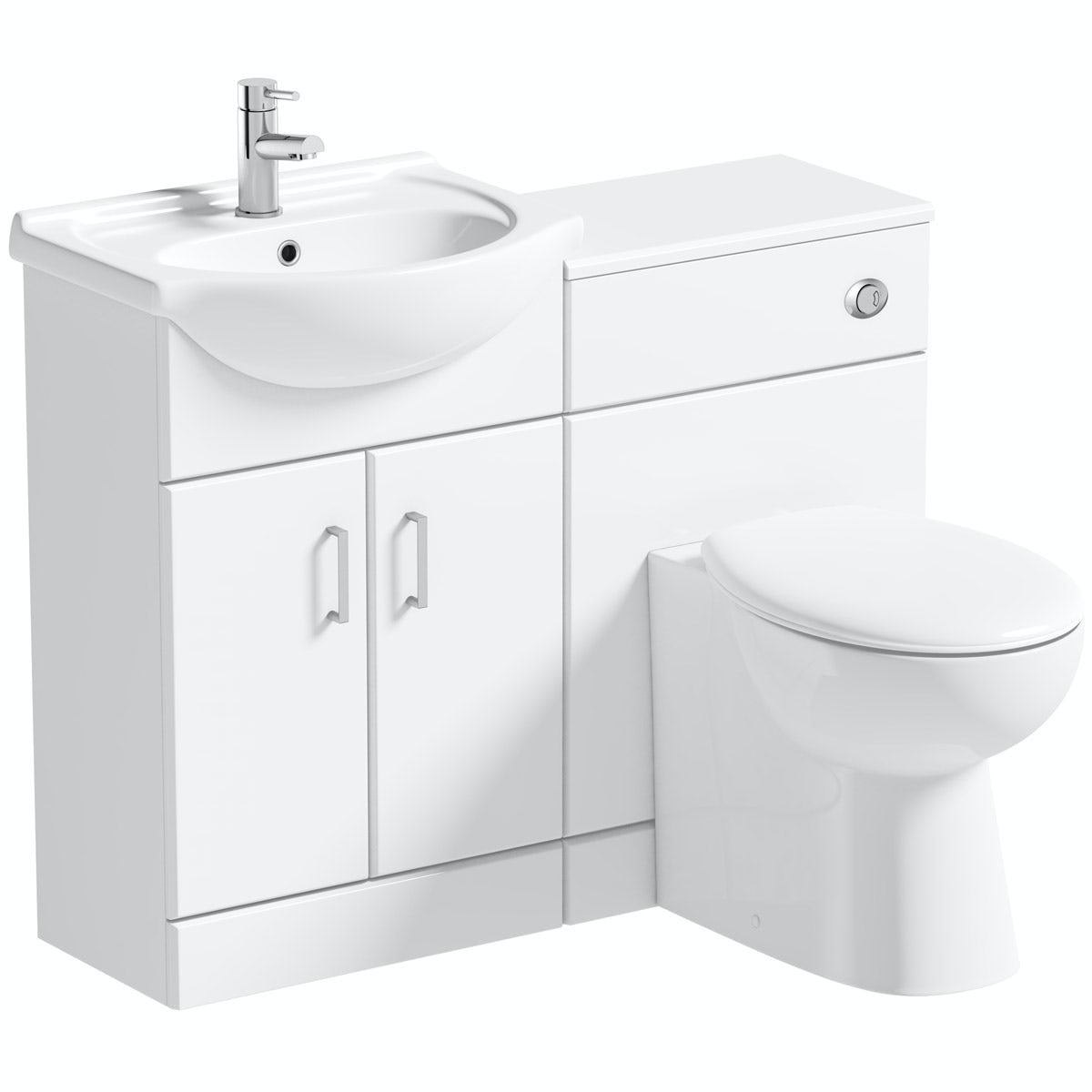 Ordinaire Orchard Eden White 1060mm Combination With Clarity Back To Wall Toilet And  Seat