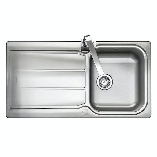 Rangemaster Glendale 1.0 bowl reversible kitchen sink with waste kit