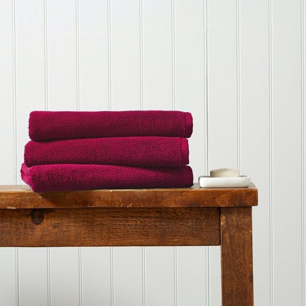 Christy Brixton magenta bath towel