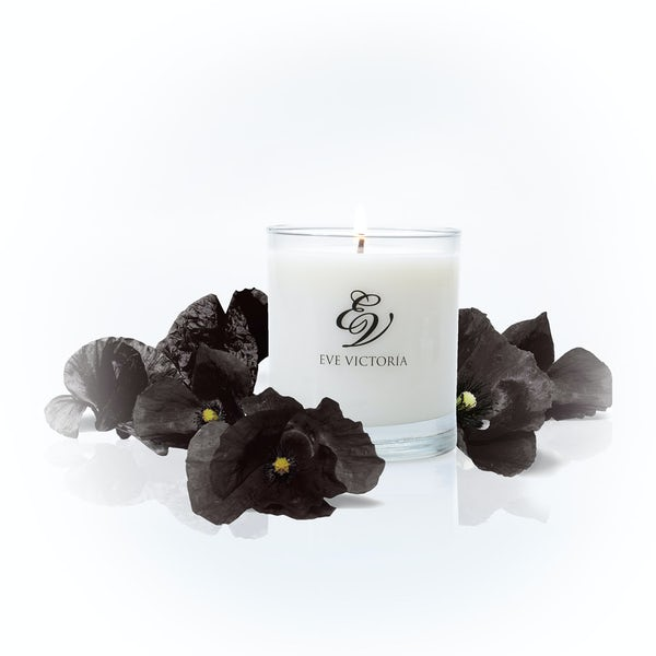 Eve Victoria Black poppy large candle 30cl