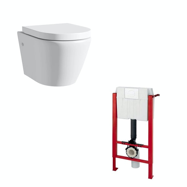 Mode Harrison wall hung toilet inc soft close seat and wall mounting frame