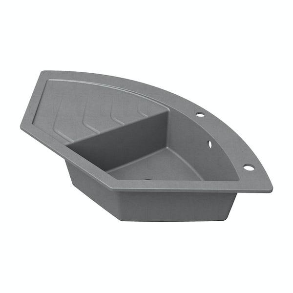 Schon Albro Cobblestone 1.0 bowl reversible countertop kitchen sink