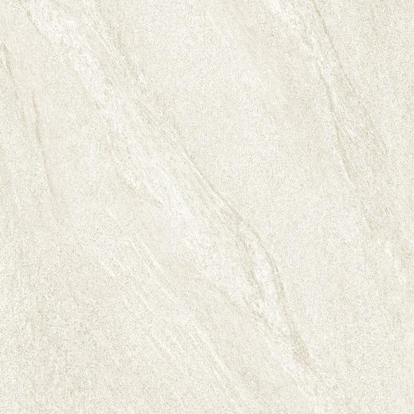 Alicura ivory stone effect anti-slip matt wall and floor tile 600mm x 600mm