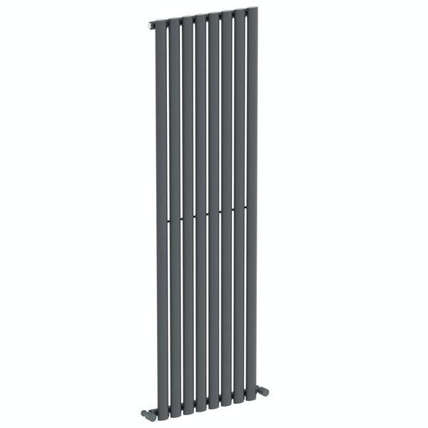 Mode Tate anthracite grey single vertical radiator 1600 x 480