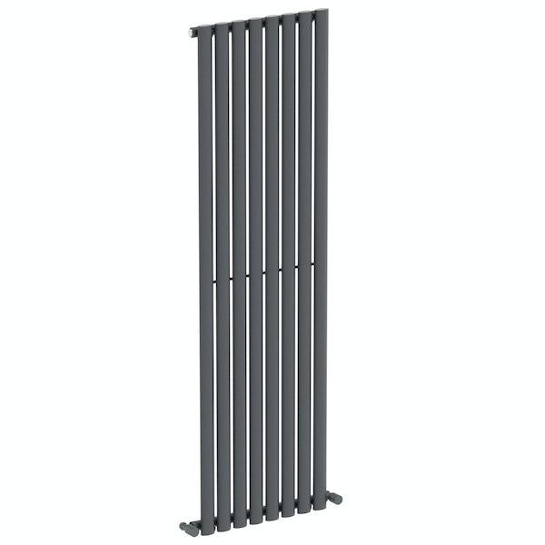 Mode Tate anthracite grey single vertical radiator 1600 x 480
