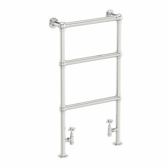The Heating Co. Winchester chrome floorstanding heated towel rail 914 x 535
