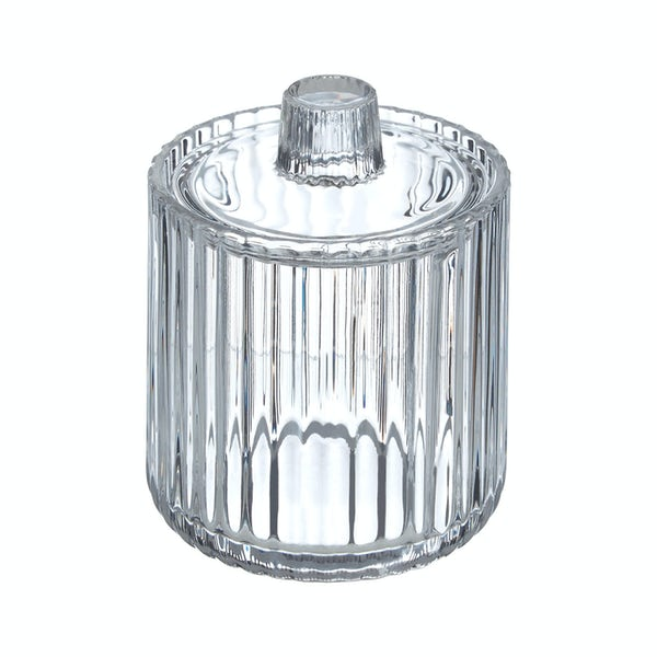 Accents Brittany clear ribbed glass storage jar