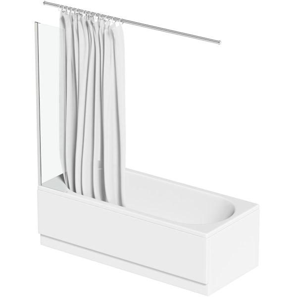 Orchard 6mm fixed deflector shower bath panel