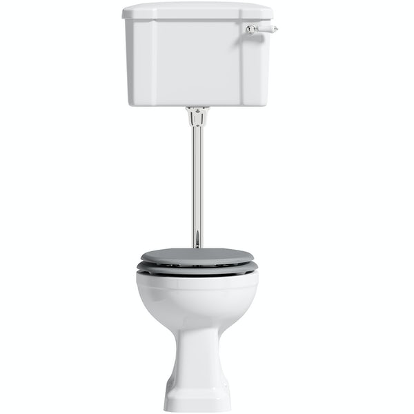 The Bath Co. Camberley low level toilet with grey soft close seat