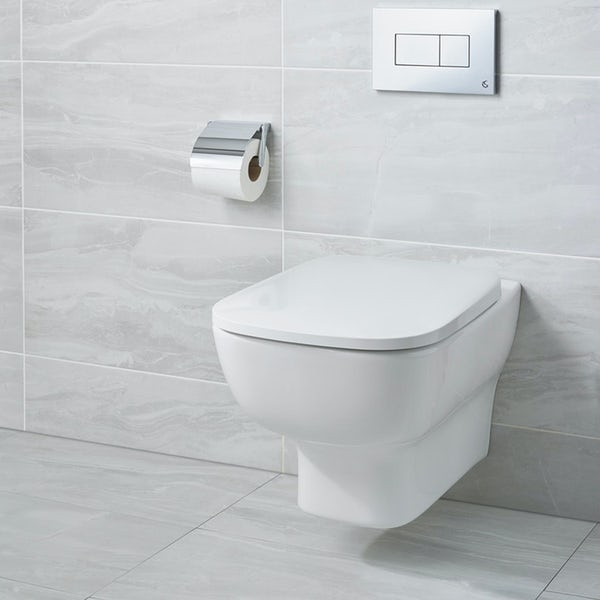 Ideal Standard Studio Echo wall hung toilet with soft close seat