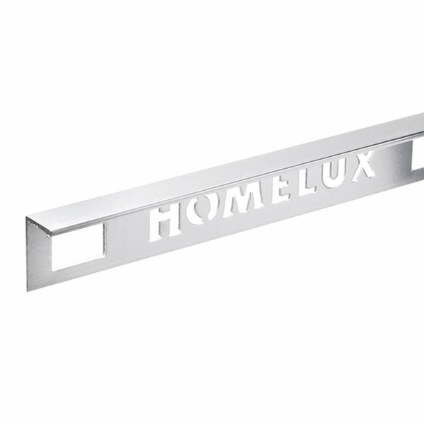 Aluminium Silver Effect Tile Trim 10mm