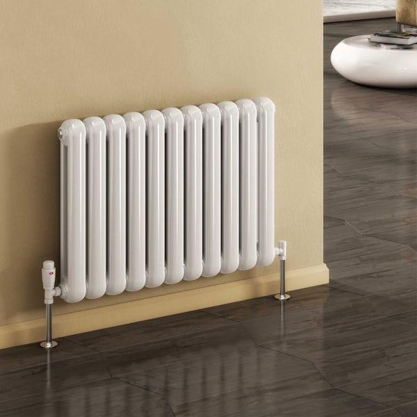 Reina Coneva white horizontal steel designer radiator