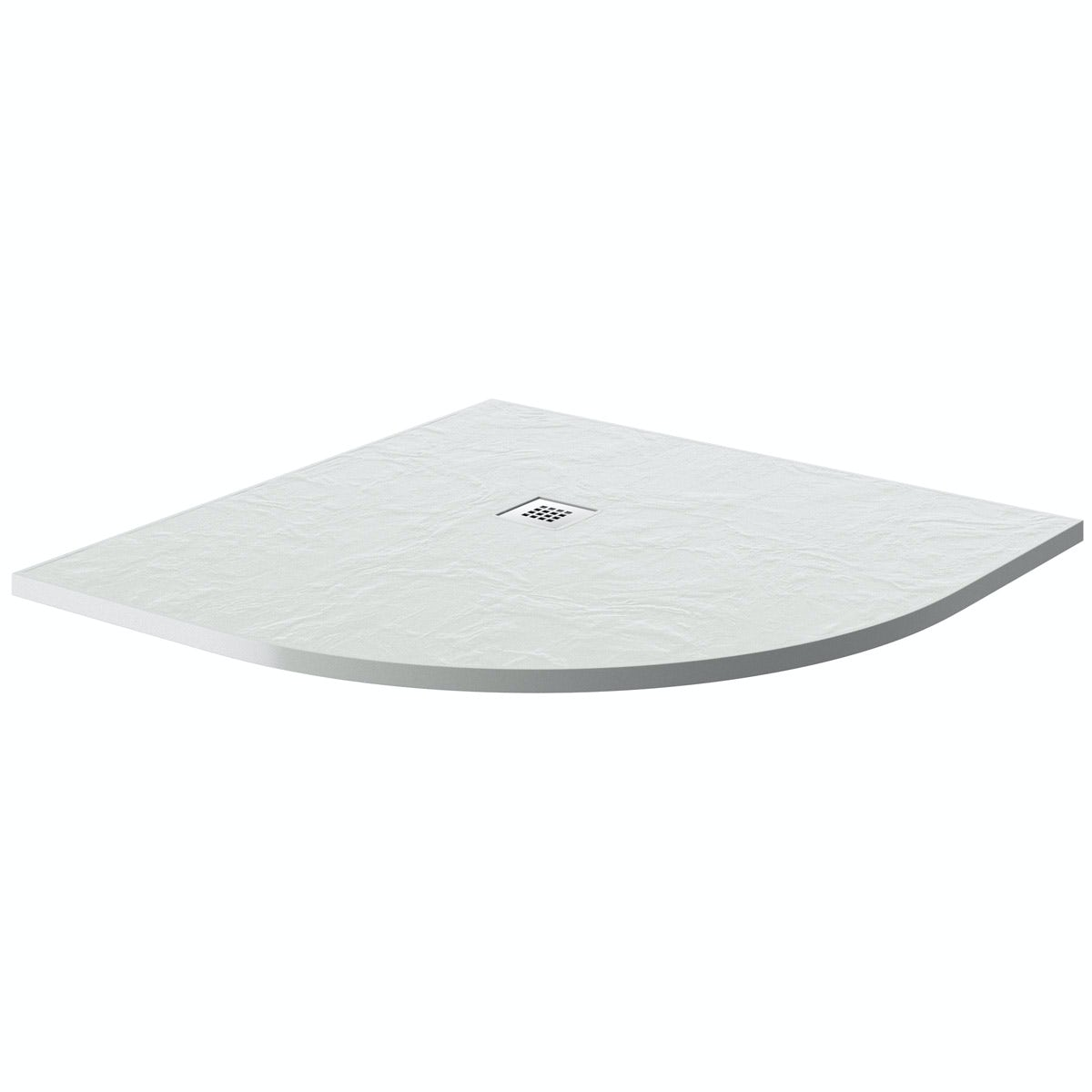 Mode white slate effect quadrant stone shower tray 900 x 900