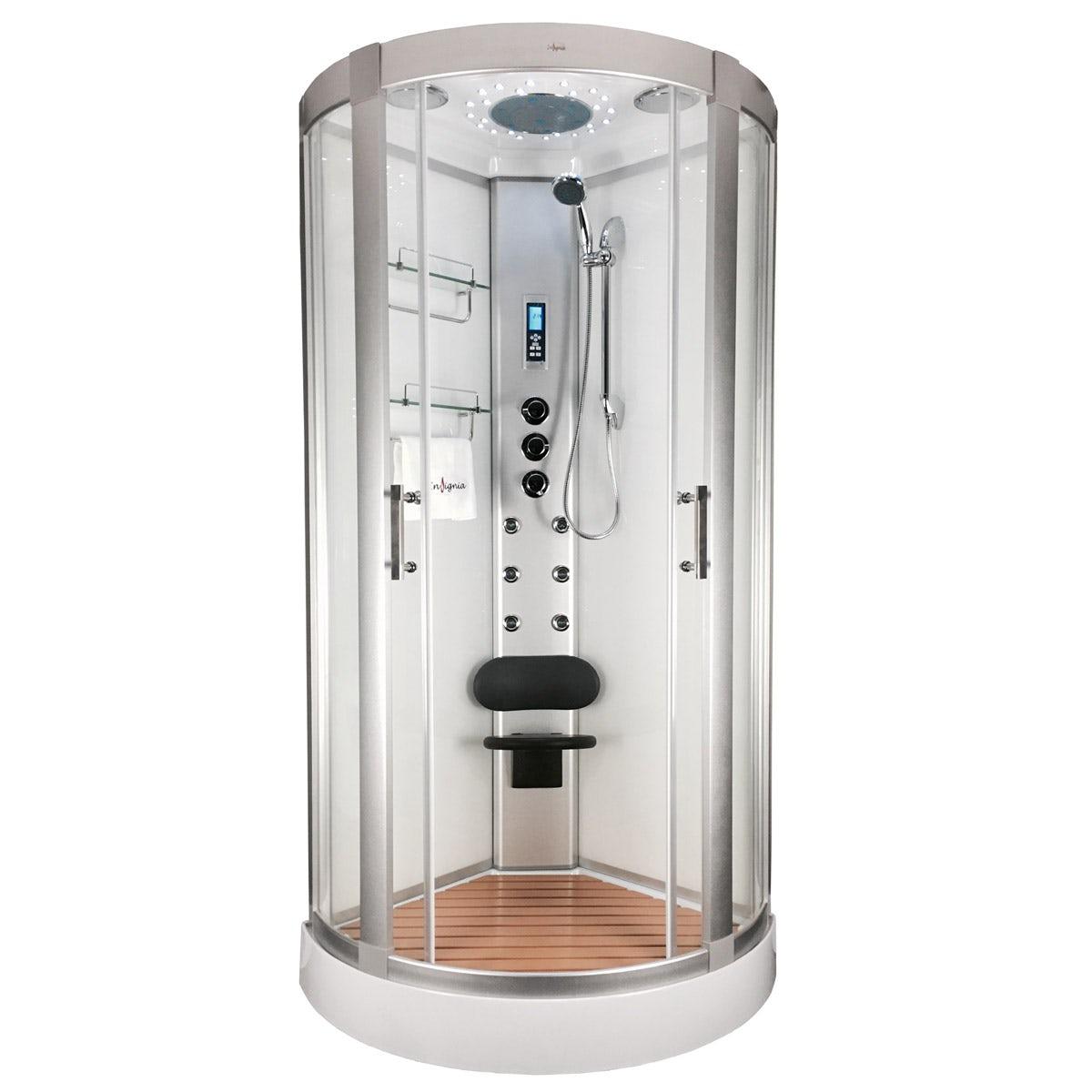 Insignia bow quadrant hydro-massage shower cabin 900 x 900 ...