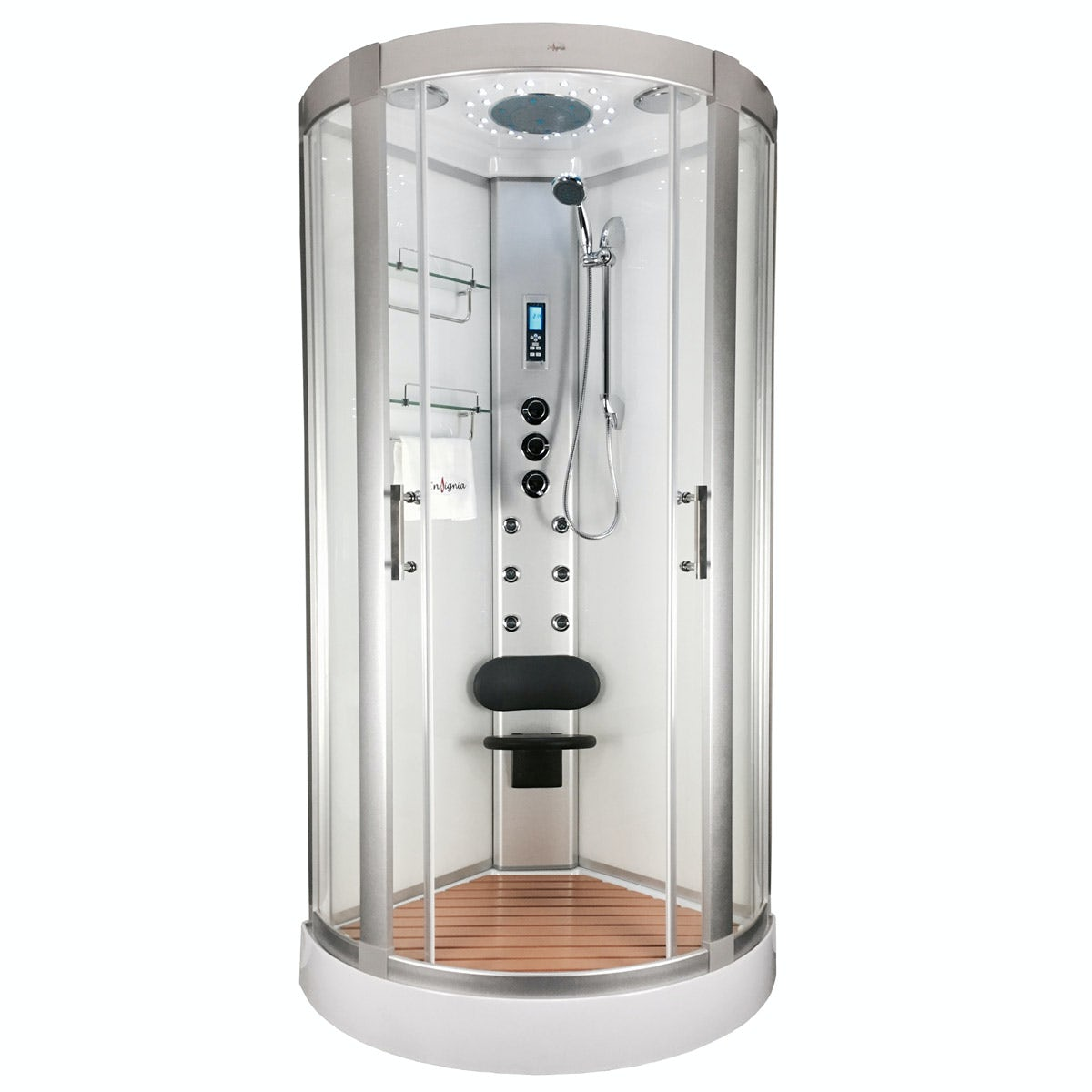 Insignia Bow Quadrant Hydro Massage Shower Cabin 900 X 900