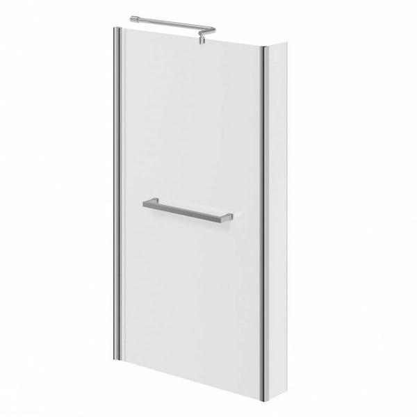Orchard Eden bathroom suite with left handed L shaped shower bath 1700 x 850