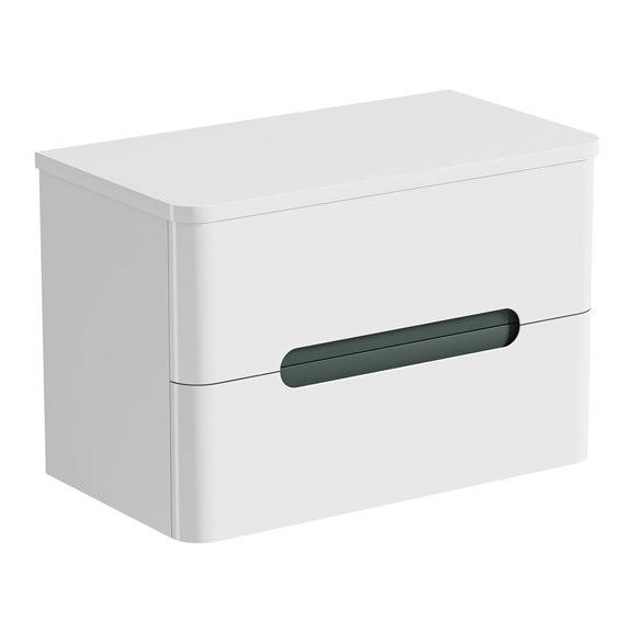 Mode Ellis slate wall hung vanity drawer unit and countertop 800mm