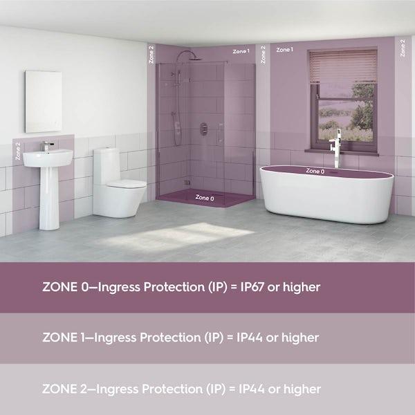 Forum Cali IP65 tiltable bathroom downlight in white