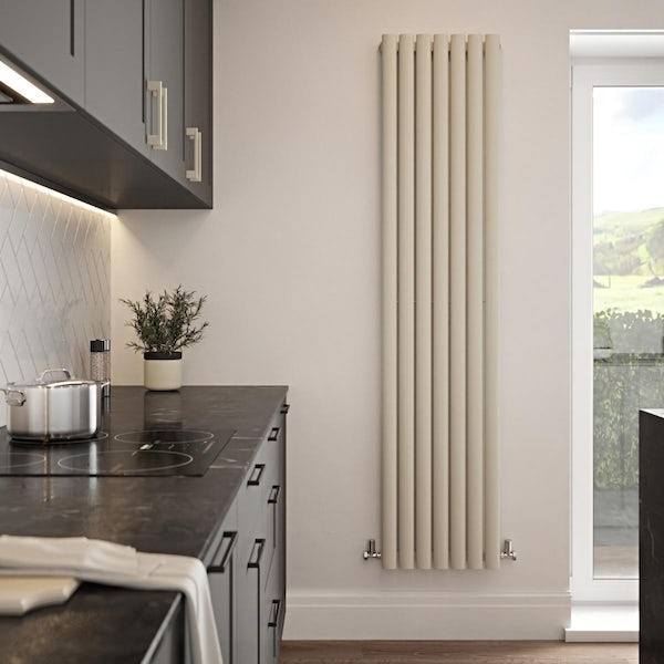 The Tap Factory Vibrance ivory vertical panel radiator