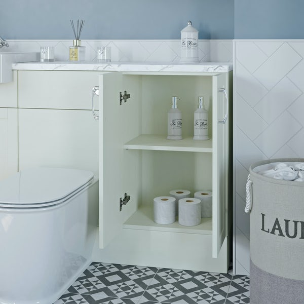 The Bath Co. Newbury white floor cabinet 500mm