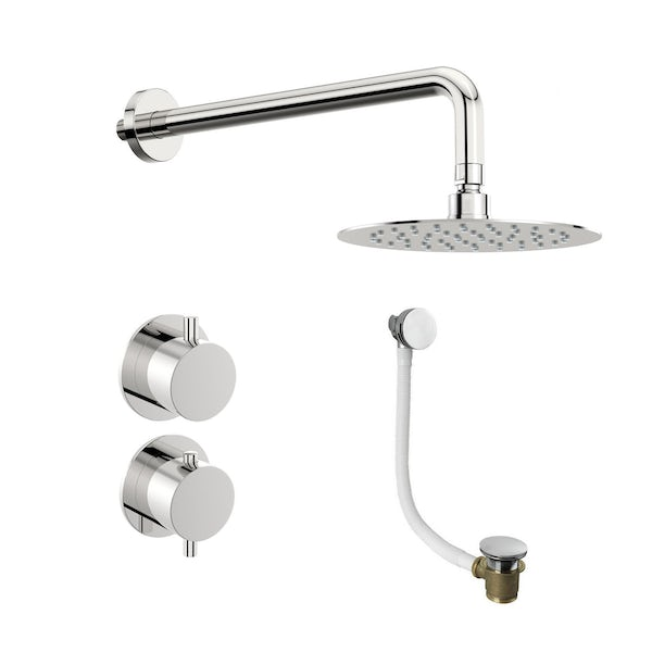 Mode Hardy thermostatic shower valve with wall shower bath set
